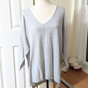 NWT EIGHT EIGHT EIGHT GREY LOOSE TOP SIZE 2X
